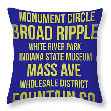 Streets Of Indianapolis 3 Throw Pillow