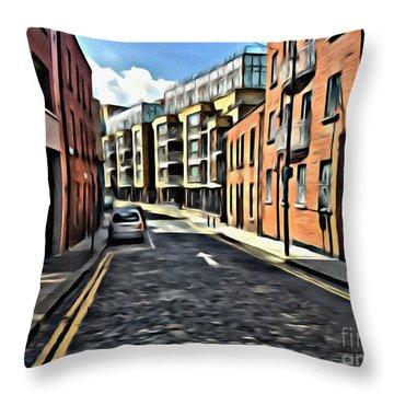 Streets Of Ireland Throw Pillow
