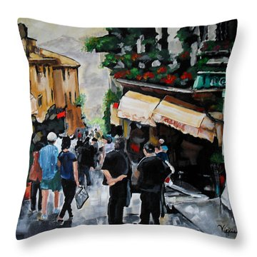 Streets Of Italy Throw Pillow by Vickie Warner