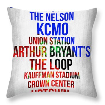 Streets Of Kansas 1 Throw Pillow