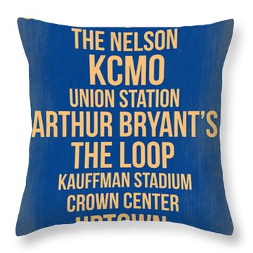 Streets Of Kansas 3 Throw Pillow