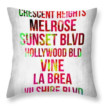 Streets Of Los Angeles 1 Throw Pillow