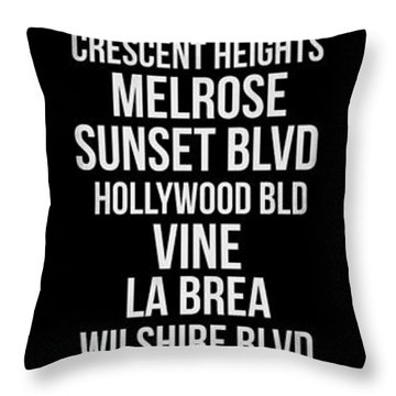 Streets Of Los Angeles 2 Throw Pillow