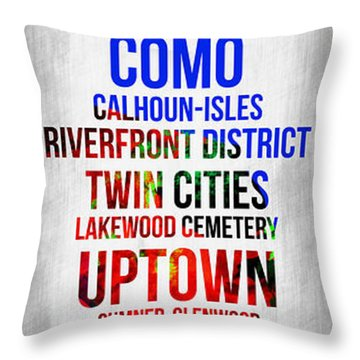 Streets Of Minneapolis 1 Throw Pillow