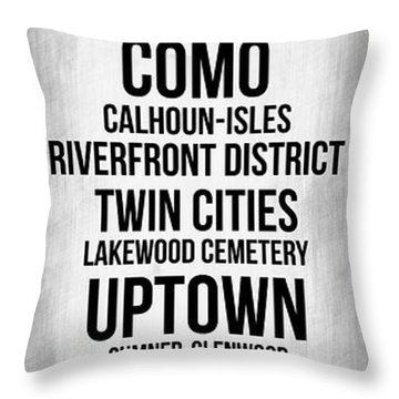 Streets Of Minneapolis 4 Throw Pillow