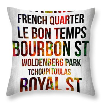 Streets Of New Orleans 1 Throw Pillow