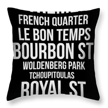 Streets Of New Orleans 2 Throw Pillow