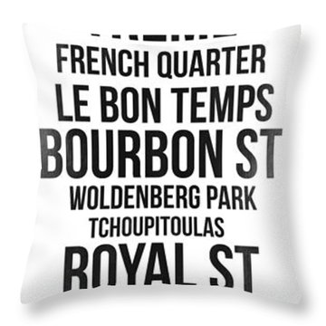 Streets Of New Orleans 3 Throw Pillow