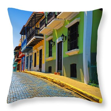 Streets Of Old San Juan Throw Pillow