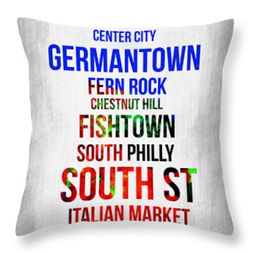 Streets Of Philadelphia 1 Throw Pillow