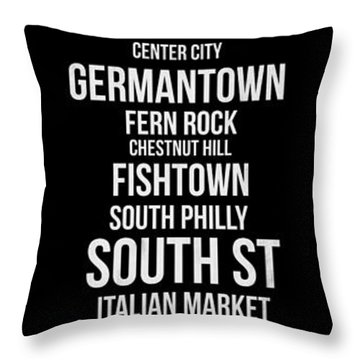 Streets Of Philadelphia 2 Throw Pillow