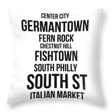 Streets Of Philadelphia 3 Throw Pillow