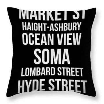 Streets Of San Francisco 2 Throw Pillow