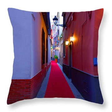 Streets Of Seville - Red Carpet  Throw Pillow