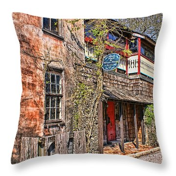 Throw Pillow featuring the photograph Streets Of St Augustine Florida by Olga Hamilton