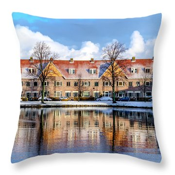 Streetview - Haarlem - The Netherlands Throw Pillow