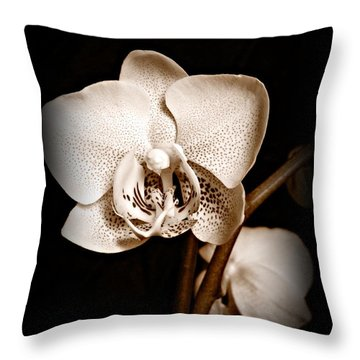 Strength And Beauty Sepia Throw Pillow by Chalet Roome-Rigdon