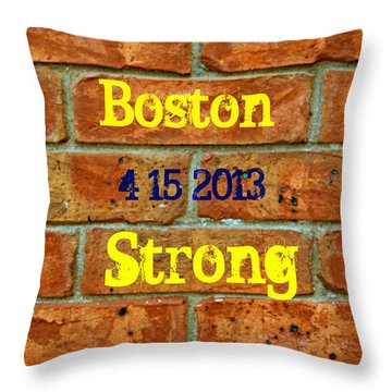 Strength And Courage Throw Pillow