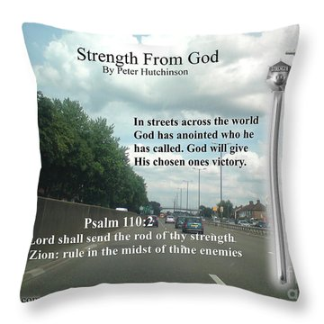 Strength From God Throw Pillow