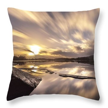 Throw Pillow featuring the photograph Strength In The Storm by Rose-Maries Pictures