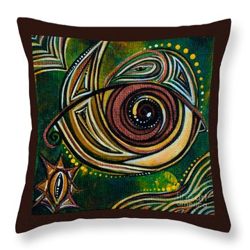 Throw Pillow featuring the painting Strength Spirit Eye by Deborha Kerr