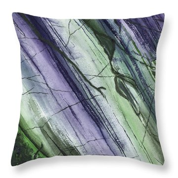Striations In Blueberry - Muted Throw Pillow