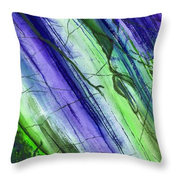 Striations In Blueberry Throw Pillow