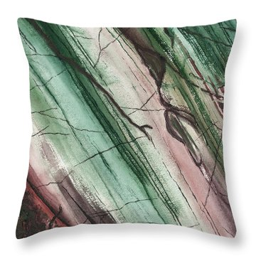 Striations In Currant - Muted Throw Pillow