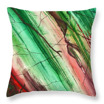 Striations In Currant Throw Pillow
