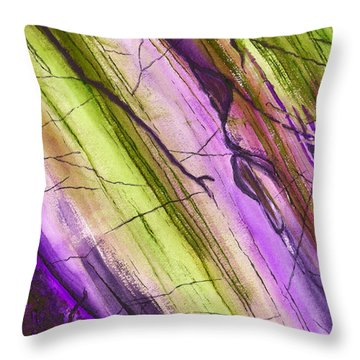 Striations In Eggplant Throw Pillow