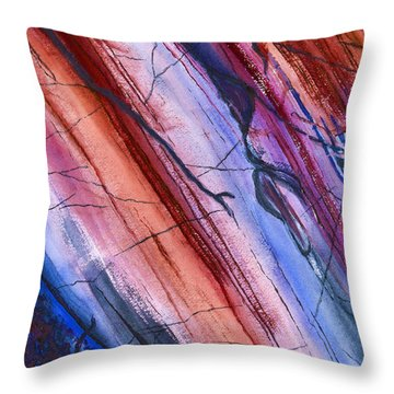 Striations In Paprika Throw Pillow