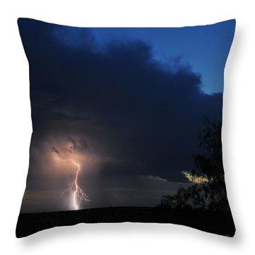 Strike Throw Pillow by Karen Slagle
