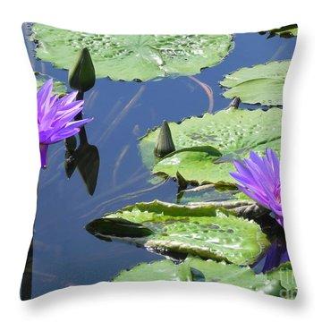 Throw Pillow featuring the photograph Striking Silhouettes by Chrisann Ellis