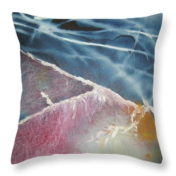 String Theory - Wave Throw Pillow by Carrie Maurer