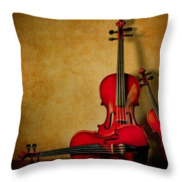 String Trio Throw Pillow by David and Carol Kelly