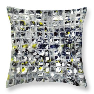 Stringent Lace Throw Pillow by Lesley Fletcher