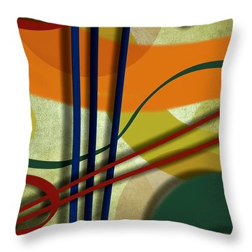 Abstract Strings Throw Pillow