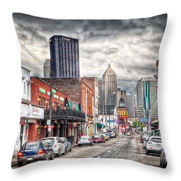 Strip District Pittsburgh Throw Pillow