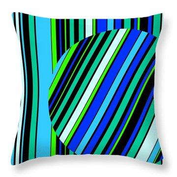 Striped Circle  C2014 Throw Pillow