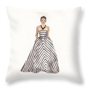 Striped Glamour Throw Pillow