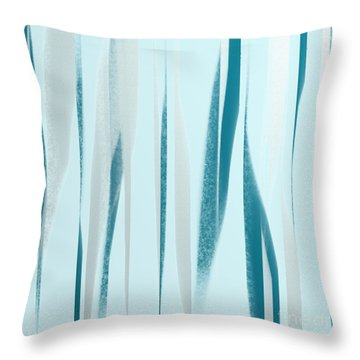 Stripes 9 Abstract Square Throw Pillow by Andee Design