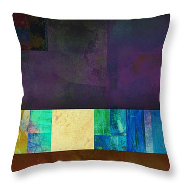 Stripes And Squares - Abstract -art Throw Pillow by Ann Powell