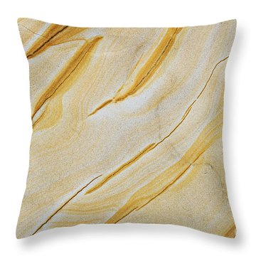 Stripes In Stone Throw Pillow
