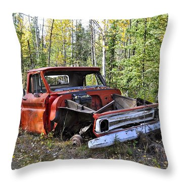 Throw Pillow featuring the photograph Stripped Chevy by Cathy Mahnke