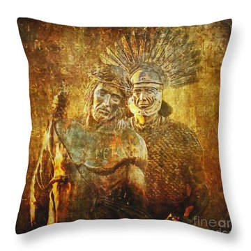 Stripped Of His Garments Via Dolorosa 10 Throw Pillow by Lianne Schneider