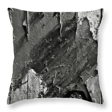 Stripping Hull Of An Old Abandoned Ship Throw Pillow by RicardMN Photography