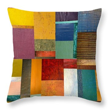 Strips And Pieces Ll Throw Pillow