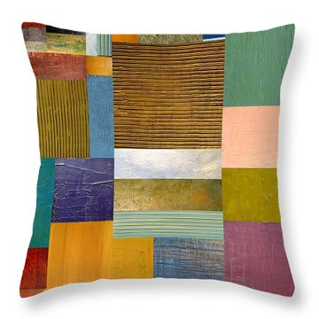 Strips And Pieces Lv Throw Pillow by Michelle Calkins