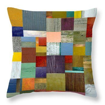 Strips And Pieces Vl Throw Pillow by Michelle Calkins