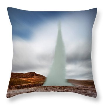 Strokkur Throw Pillow